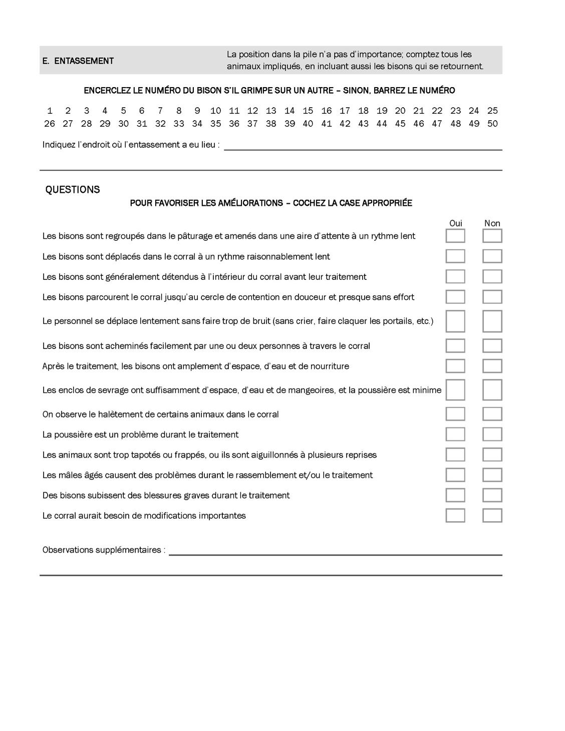 On trouvera dans les pages suivantes un Audit du bien-être des  bisons(77)qui peut servir à mesurer plusieurs aspects du travail avec les  bisons dans le ... 1c09de16a583
