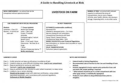 A Guide to Handling Livestock at Risk