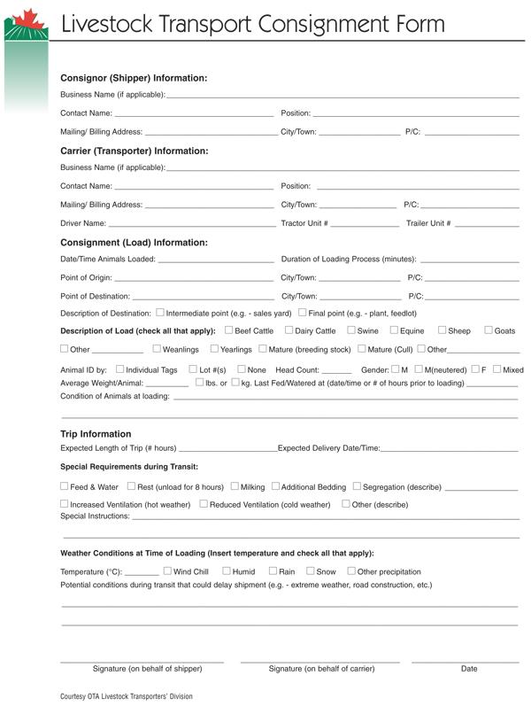 AI Transport_Consignment_Form